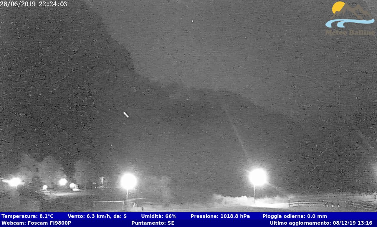Webcam a cura di Meteo Ballino, puntamento verso SE